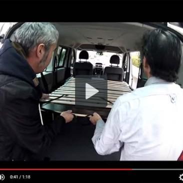 Installation dans un minibus