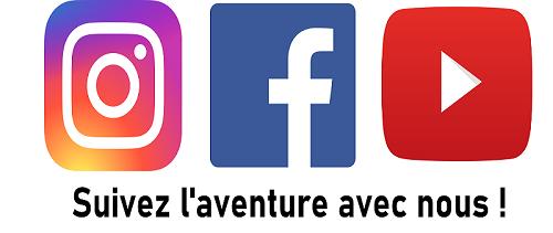 Suivez l'aventure avec nous !