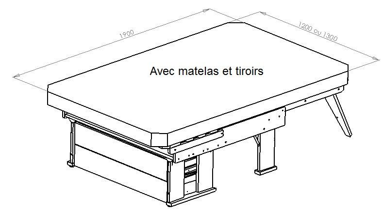 DimensionsMatelasDoubleBanquette