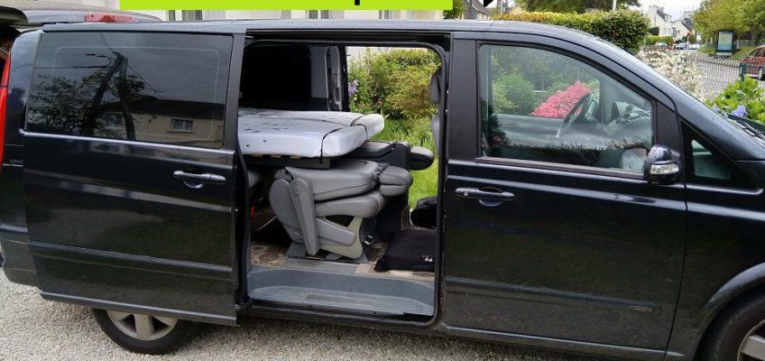 Mercedes Viano rallongé en mode road trip