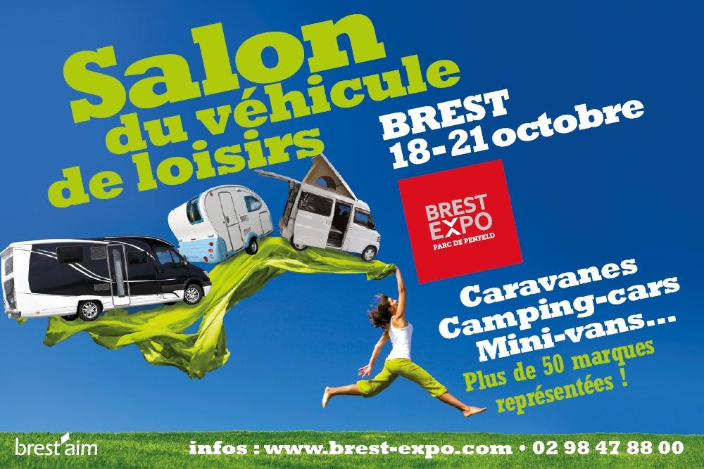 Affiche salon vehicules loisirs Brest